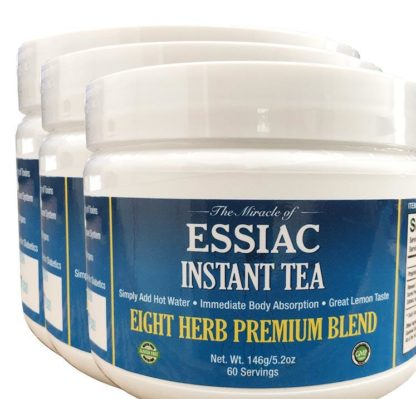 Essiac Instant Tea, Add One Scoop to Cup, Add Hot Water, Enjoy, 5.2 oz jar, 60 servings, No Special Storage, Totally Portable, 30 Day Supply