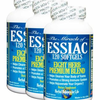 Essiac Tea Softgels, 796 mg, 3 Pack 360 Soft Gels, Eight Herb Essiac Tea, All Natural, Organic Caramel Color, No Brewing, No Refrigeration, Great for Travel, 90 Day Supply